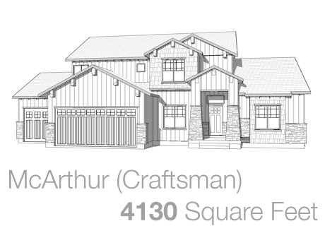 Lifestyle Homes - Walker Home Design Plans McArthur Craftsman