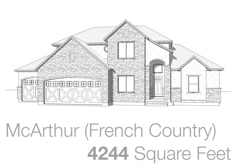Lifestyle Homes - Walker Home Design Plans McArthur French Country
