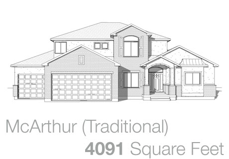 Lifestyle Homes - Walker Home Design Plans McArthur Traditional