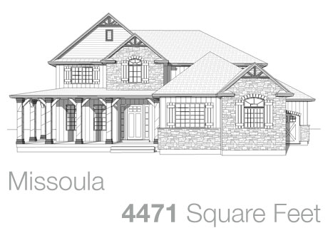 Lifestyle Homes - Walker Home Design Plans Missoula