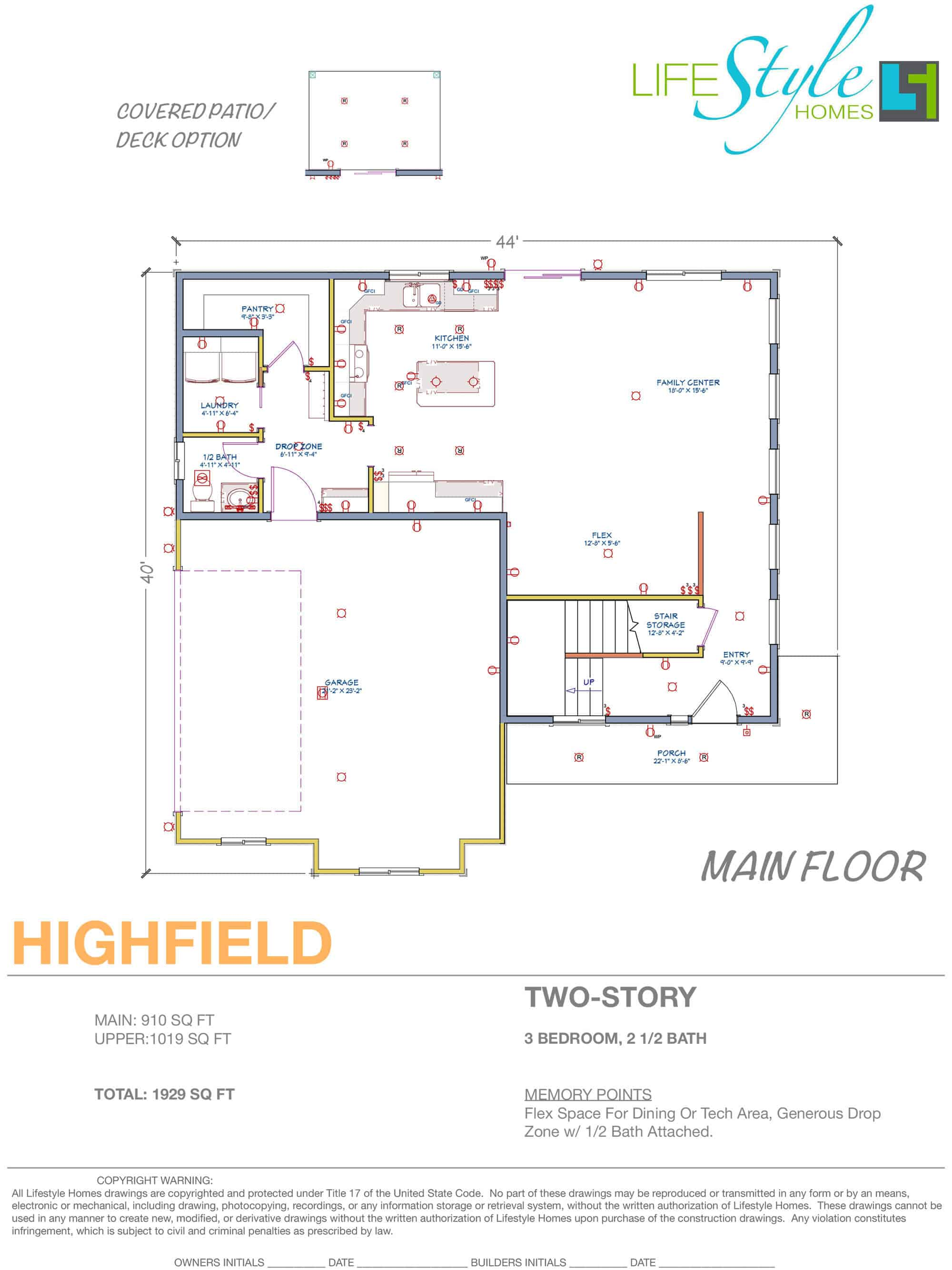 highfield floorplan main