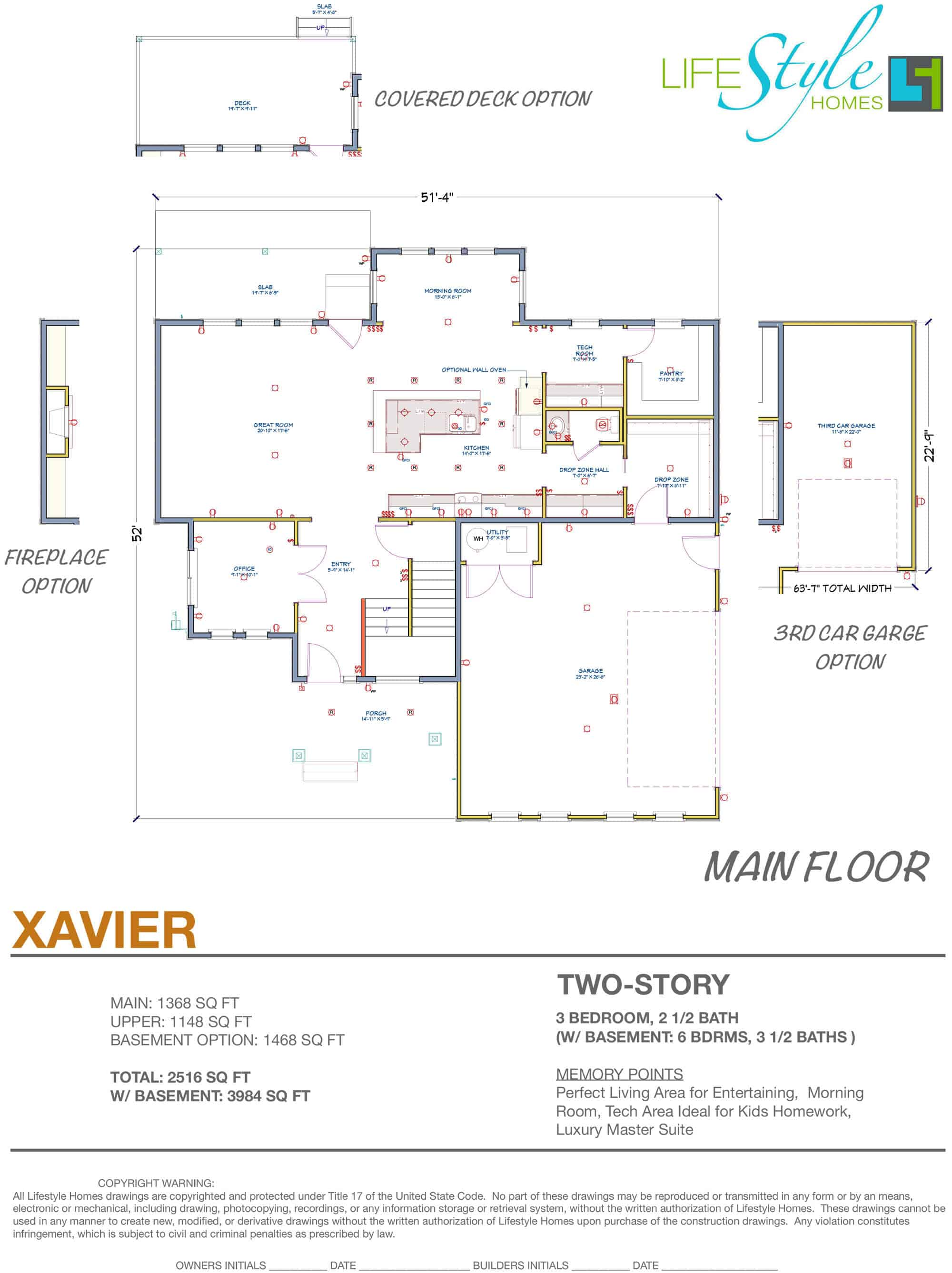 xavier floor plan